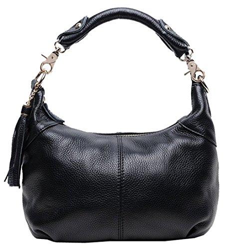 Freeze Classico alta qualità vera pelle Cross Body Bag Borsa a tracolla nero