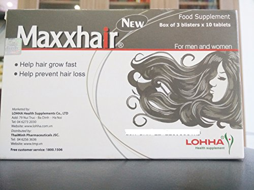 07 Boxes - Maxxhair Help For Hair Strong , Enhances The Health Of The Hair - Thuốc Mọc Tóc Maxx Hair by Maxxhair