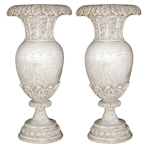 (Design Toscano Versailles Floral Oviform Urn: Set of)