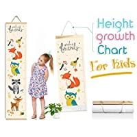 """Baby Growth Chart for Boys and Girls, Height Ruler for Kids, Canvas Room Accessories Decoration for Babies Calculator Chart Wall (55"""" X 10"""")"""