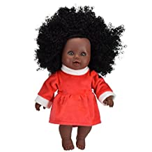 Tusalmo toys doll 12inch kids toy, vinyl body baby dolls for girls, from Professional toys doll manufacturers (African American Girl)