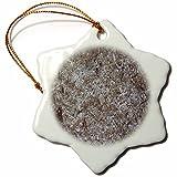 3dRose TDSwhite – Rock Photos - Rough Rock Surface Photo - 3 inch Snowflake Porcelain Ornament (orn_281931_1)