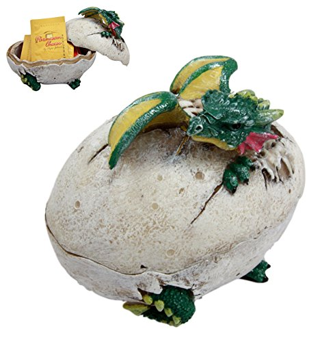 Atlantic Collectibles Fantasy Dragon Egg Hatchling Decorative Box Figurine 5
