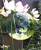 """Kitras Art Glass Blue Fairy Orb Witch Ball Ornament - 6"""""""