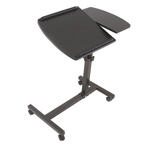 Nueva Ajustable Ruedas para ordenador portátil soporte de mesa mesa para cama escritorio inclinación TV bandeja