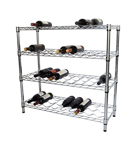 TRINITY EcoStorage 4-Tier NSF Wine Rack (Chrome Wine Rack)