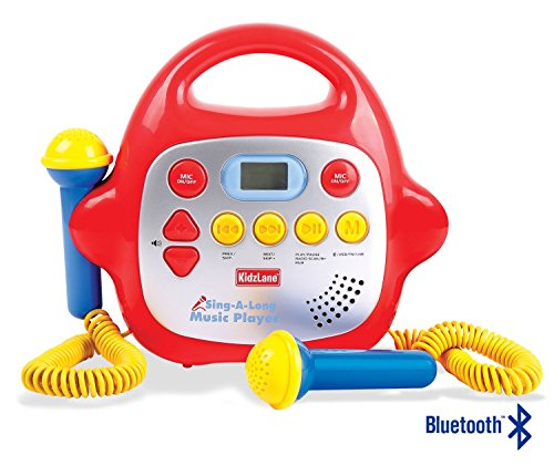 Karaoke Machine for Kids, Sing-Along Portable 2 Microphone Player, Play Music via Bluetooth/MP3/AUX
