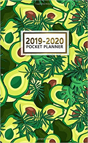 2019-2020 Pocket Planner: Tropical Avocado Two-Year Monthly ...