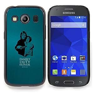 """Qstar Arte & diseño plástico duro Fundas Cover Cubre Hard Case Cover para Samsung Galaxy Ace Style LTE/ G357 (Familty Deber Honor"""")"""