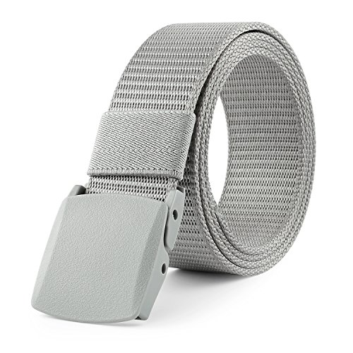 JASGOOD Nylon Canvas Breathable Military Tactical Men Waist Belt With Plastic Buckle (Suit for pant size below 45