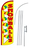 """NEOPlex – """"SNOWBALLS 12-Foot Super Swooper Feather Flag with Heavy-Duty 15-f. Review"""