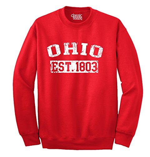 Classic Teaze Ohio State Printed Adult Crewneck Sweatshirt