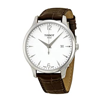 bf3e6ea6f53 Image Unavailable. Image not available for. Color  Tissot T-Classic  Tradition Silver Dial Men s Watch ...