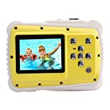 Powpro Kfun PP-J52 Underwater Action Camera Waterproof Dustproof Kids Camera Camcorder 5M Pixels (Yellow)
