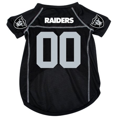 Oakland Raiders Pet Jersey, Medium (Raiders Official Team Jersey)