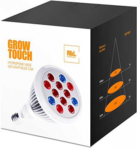 Ascent Light - LED Grow light bulb - Premium Greenhouse Hydroponic system for organic indoor gardening and marijuana - Wide Full spectrum 12W - Let your plant to touch the sun