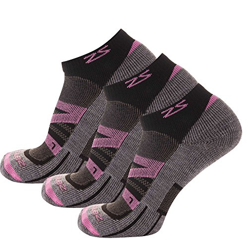 Zensah Wool Running Socks - Soft Cushioned Merino Wool, Moisture Wicking, Anti-Blister - Athletic Socks, Trail Socks