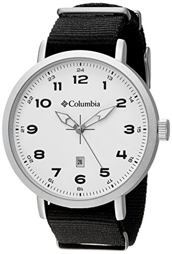 Columbia Men's CA023-001 Fieldmaster III Stainless Steel Watch With Black Nylon Band