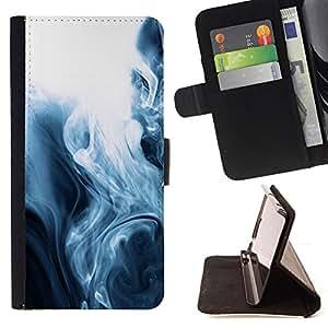 Jordan Colourful Shop - fog black white mesmerizing fluid For Apple Iphone 6 - Leather Case Absorci???¡¯???€????€?????????