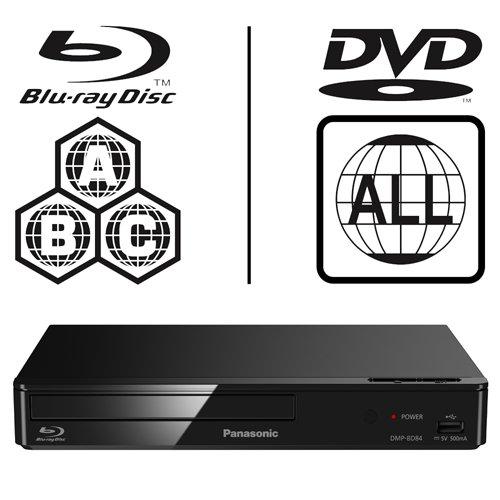 Panasonic DMP-BD84EB Smart ICOS Multi Region All Zone Code Free Blu-ray...