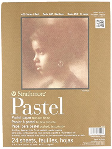 strathmore 80 pound 24 sheets assorted pastel paper pad 9 inch by