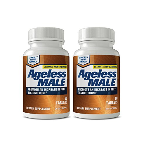 Ageless Male Testosterone Booster Supplement for Muscle Growth & Sex Drive + E-Book! (Pack of 2)