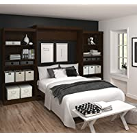 Bestar Furniture 26885-69 Pur 136 Queen Wall Bed Kit Including Two Doors and Eight Drawers with Simple Pulls and Adjustable Shelves in