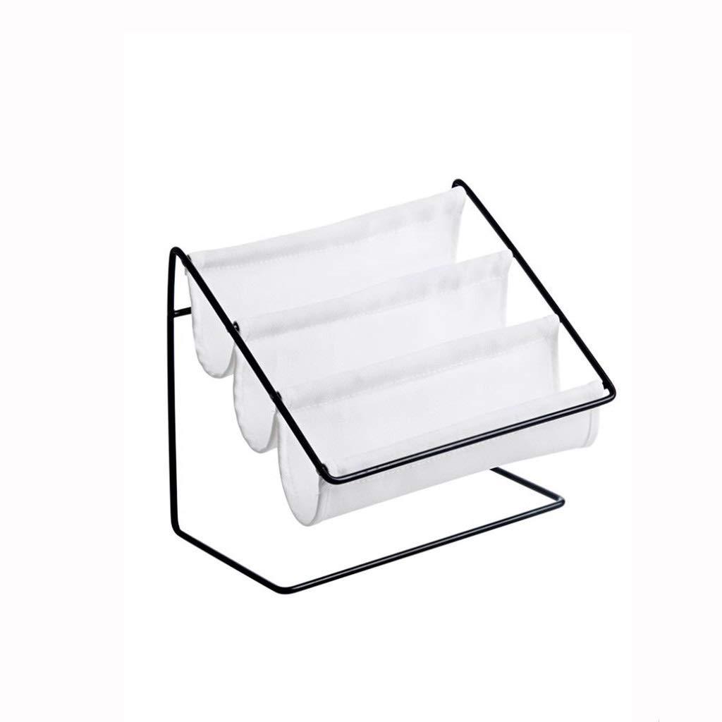 AIWO-PQ Shelf Metal Multi-Function Glasses Storage Rack for Desktop Stationery Storage Box (Color : White)