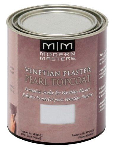 Modern Masters # VP303-32 ~ Venetian Plaster Pearl Topcoat 32 oz - Modern Masters Plaster