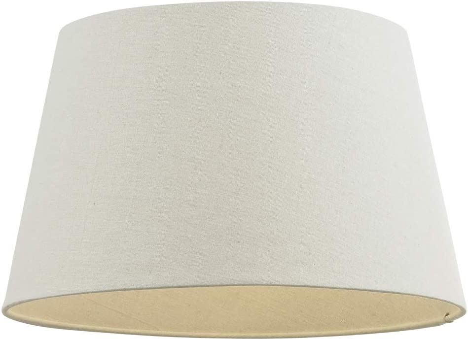Vintage Cream Linen Blend Drum Lampshade Ceiling Pendant Shade Statement