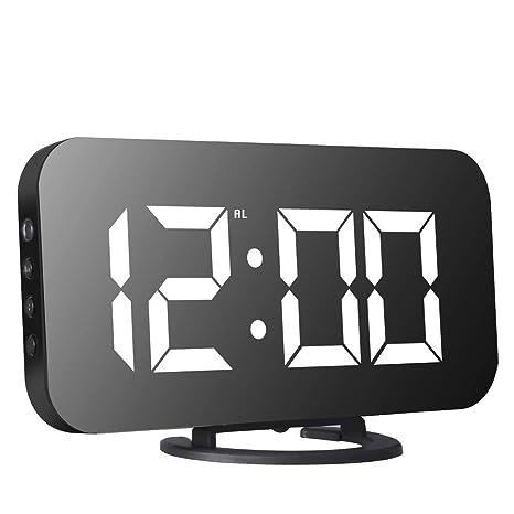 "ZOUQILAI Pantalla LED Grande Reloj Despertador Digital Reloj Despertador de cabecera 6.2"" Función de Despertador"