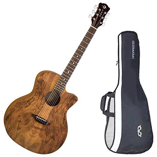 Luna Gypsy Spalt Acoustic Guitar w/ Gig Bag (Luna Gypsy Spalt Grand Auditorium Acoustic Electric Guitar)