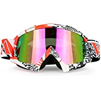 JamieWIN Adult Motorcycle Motocross Goggles ATV Racing...