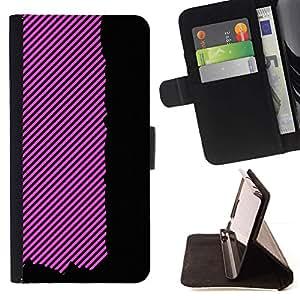 Momo Phone Case / Flip Funda de Cuero Case Cover - Negro Líneas raya el modelo abstracto - HTC One Mini 2 M8 MINI