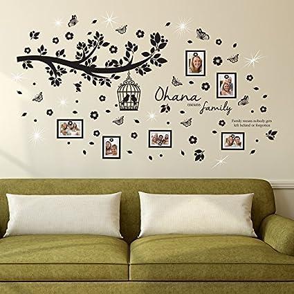 Walplus Adhesivos de pared Cristales Swarovski & Ohana familia árbol ...