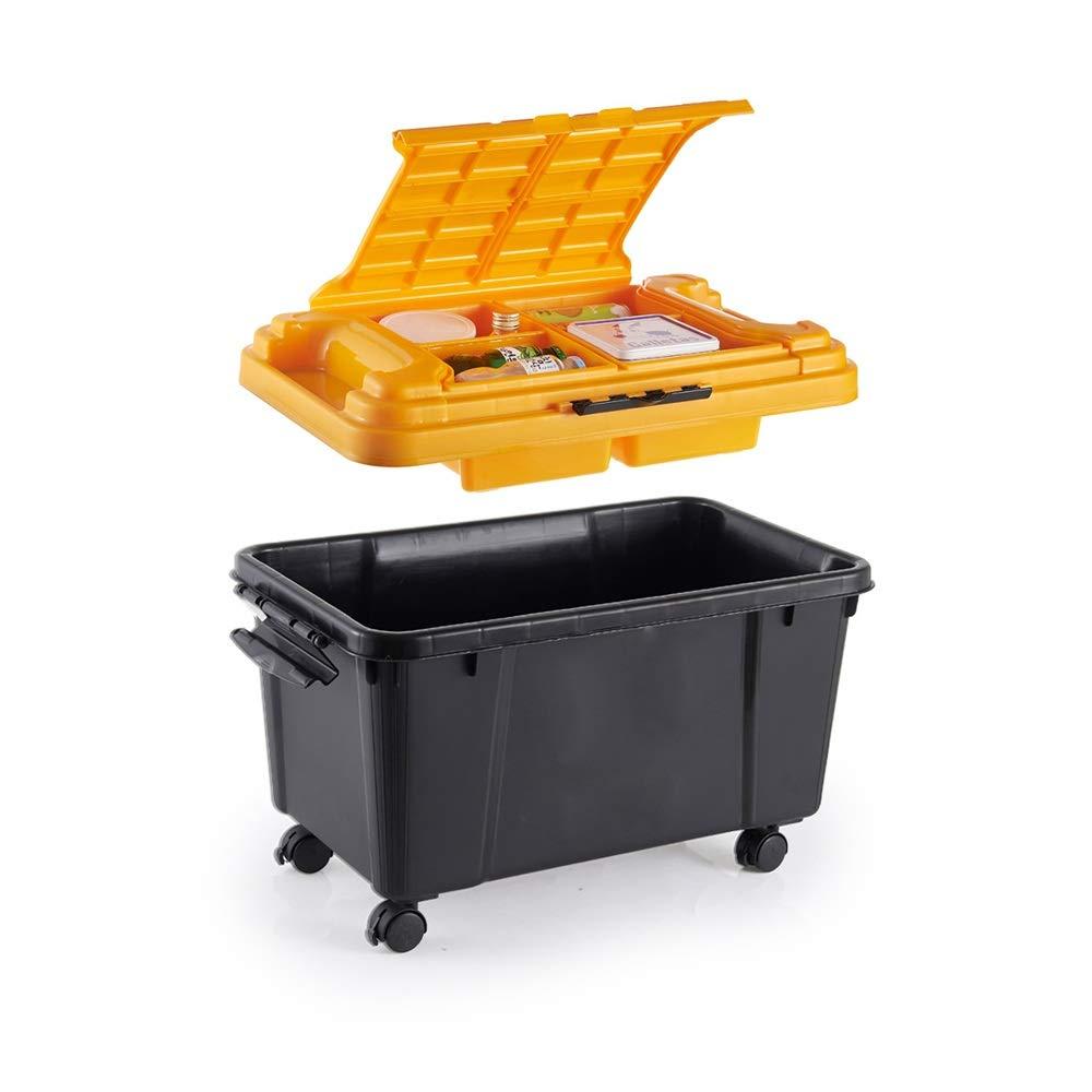 Qichengdian Auto Aufbewahrungsbox Auto-Kofferraum des Speicherorganisators Gestapelt Deck Tasche Vorratsbehälter Schwere Rollende Gelb-Toolbox Für Autowerkzeuge und -geräte