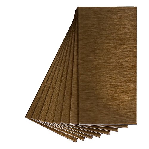 Aspect Peel and Stick Backsplash 3in x 6in Brushed Bronze (Metal Accent Tile)