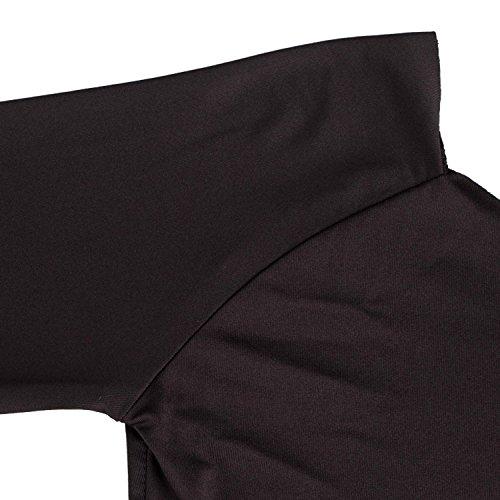 Wenseny Mujer Vestidos Moda Manga Larga Sin Tirantes Cadera Del Paquete Lápiz Cocktail Vestido Negro