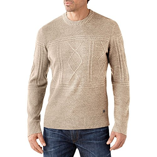 Cheyenne Drapes (Smartwool Men's Cheyenne Creek Cable Sweater Natural Heather Sweater MD)