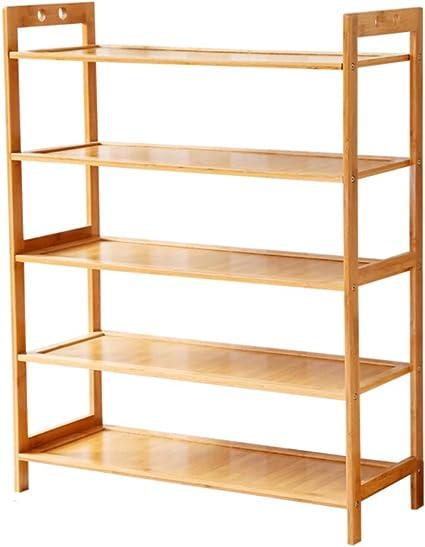 KELE Bambú Estanteria de Zapatos Multi-Capa Simple Casa ...