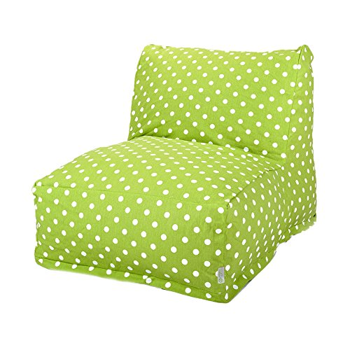(Majestic Home Goods Lime Small Polka Dot Bean Bag Chair Lounger )