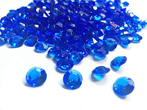 Briliant Shop 10mm Acrylic Color Faux Round Diamond Crystals Treasure Gems for Table Scatters, Vase Fillers, Event, Wedding, Arts & Crafts (1000 pcs) (Royal Blue) ()