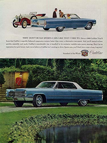 They don't build sports cars like they used to Cadillac ad 1966 ()