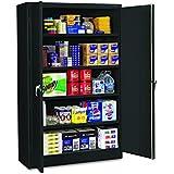 """Tennsco J2478SUBK Assembled Jumbo Steel Storage Cabinet, 48""""w x 24""""d x 78""""h, Black"""