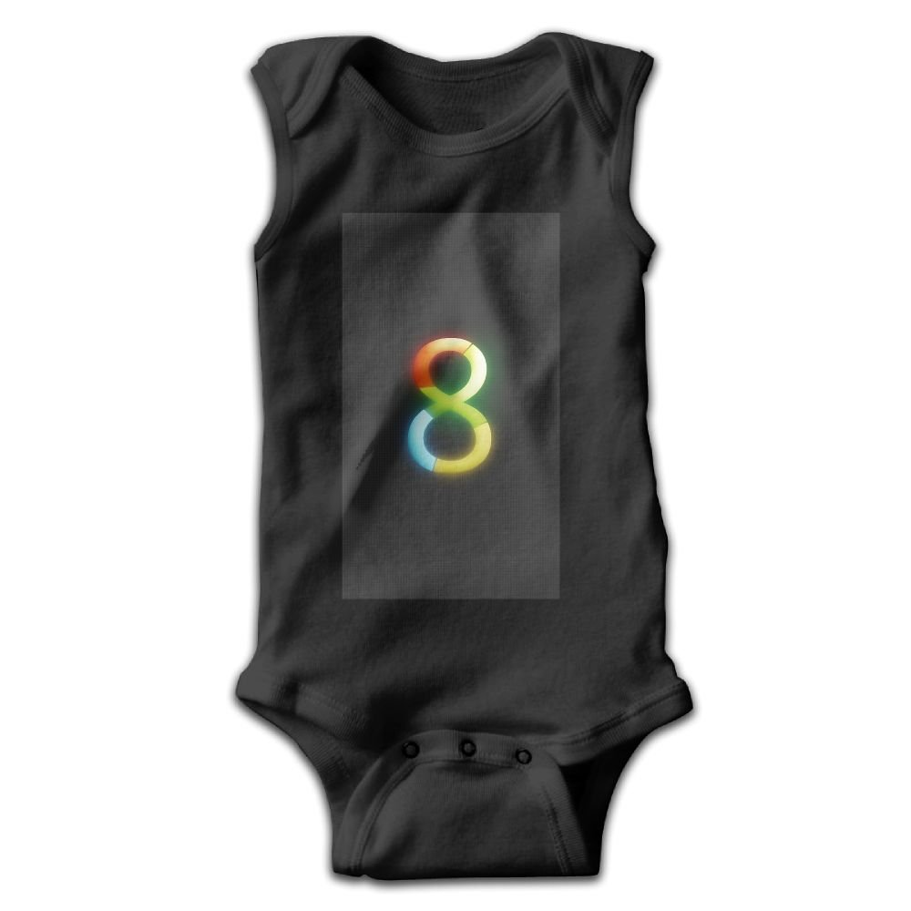 Efbj Infant Baby Boys Rompers Sleeveless Cotton Onesie Number 8 Multicolor Print Outfit Spring Pajamas Bodysuit