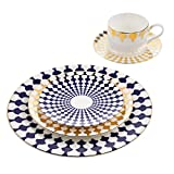 B. By Brandie 5 Piece Fine Bone China Dinnerware Set Dishes Table Place Setting Plates Teacup Review