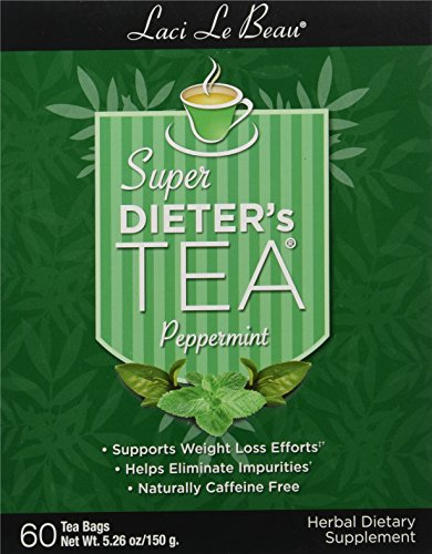 Box Super Dieters Tea - Laci Le Beau Super Dieter's Tea, Peppermint, 60 Count Box