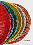 SIX Wicker Paper Plate Holders, Picnic and Party Supplies, Outdoor Dining, Summer Fun and Games, BBQs, Beach Pool Parties, Table Decor, Paper Plate Holders, Supports, Outdoor Dining, Al Fresco