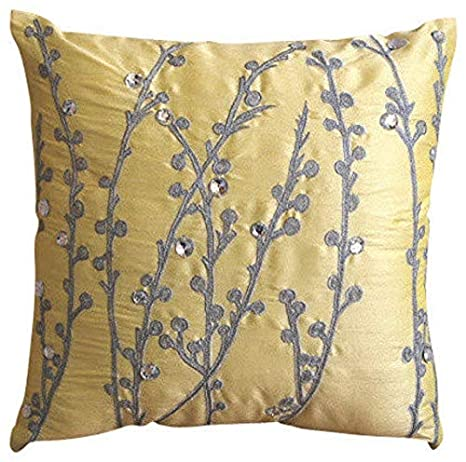 Embroidered Box Edge Pillow Cover