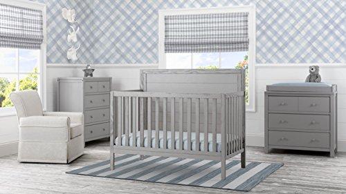 Delta Children Farmhouse 3 Drawer Dresser, Rustic Haze Grey